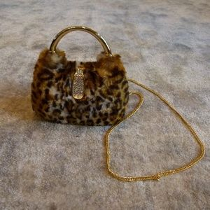 cheetah furry bag NWT